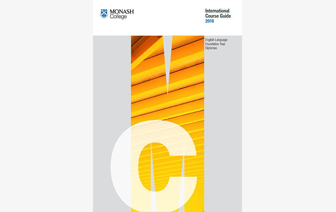 Cover of the 2018 Monash College Course Guide