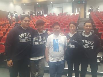 Foundation year student Devon with his Monash University teammates at the Big Data Challenge