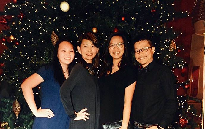 Edna Liong with her family