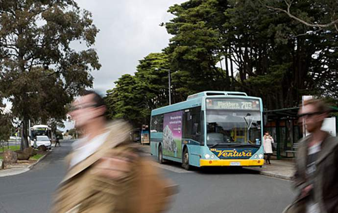 Bus arriving at Monash Clayton