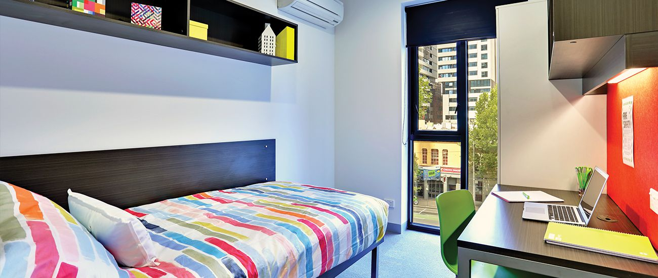 Single room at Urbanest, off-campus accommodation