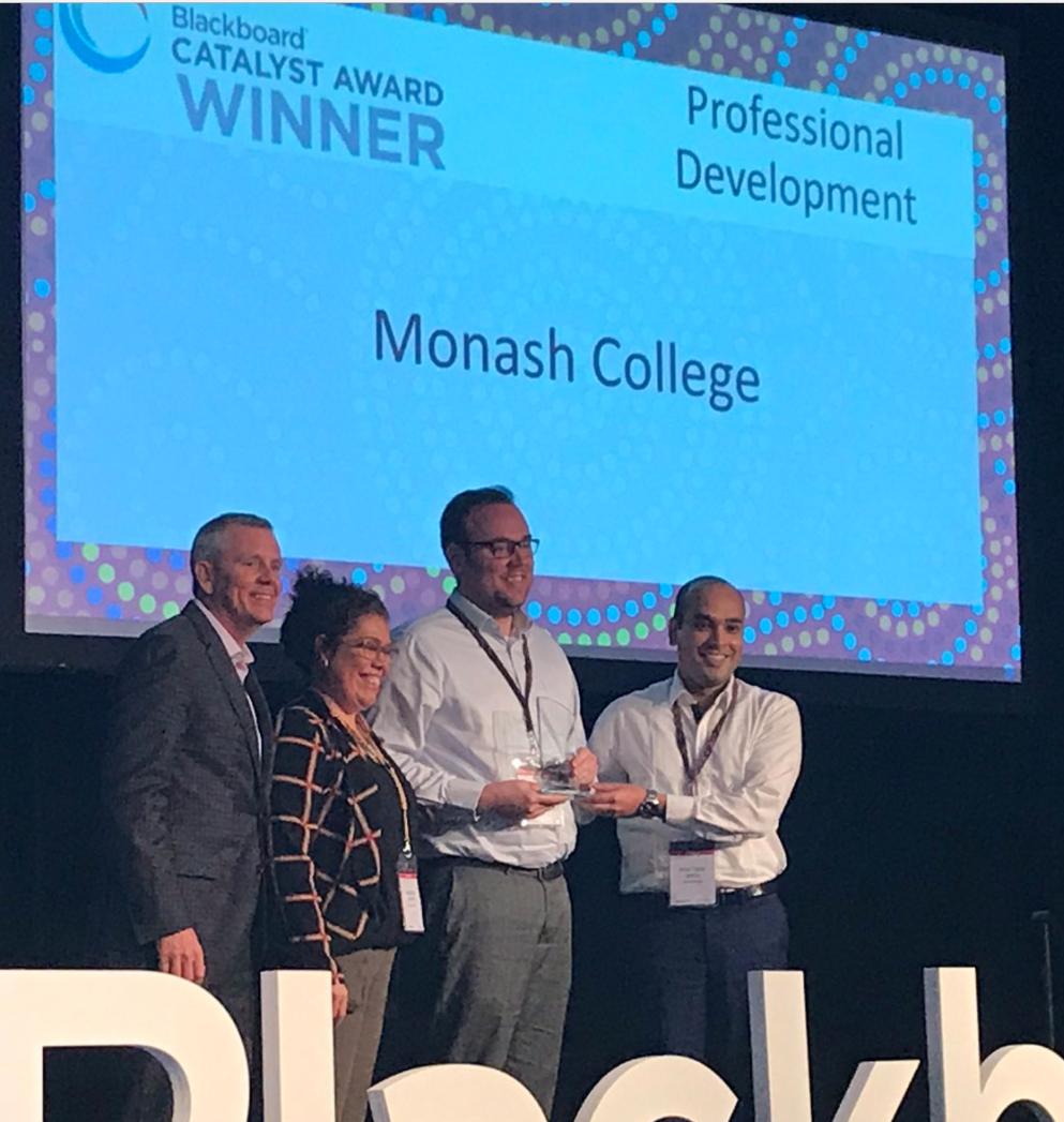 Blackboard Catalyst 2017 award goes to Monash College