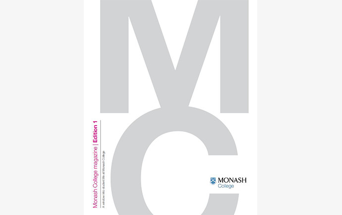 Cover of Monash College Magazine - 1st edition