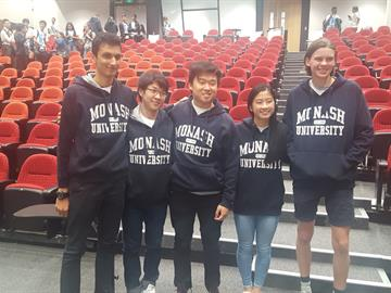Foundation year student Billy with his Monash University teammates at the Big Data Challenge