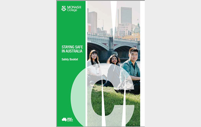 Cover of Monash College Safety Booklet