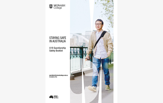 Cover of Monash College Safety Guide - Under 18s edition